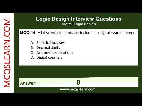 Logic Design Interview Questions Mcqslearn Free Videos Youtube