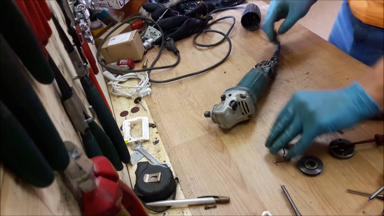 How to disemble find problem and repair Makita small angle grinder Makita B Wiring Diagram on