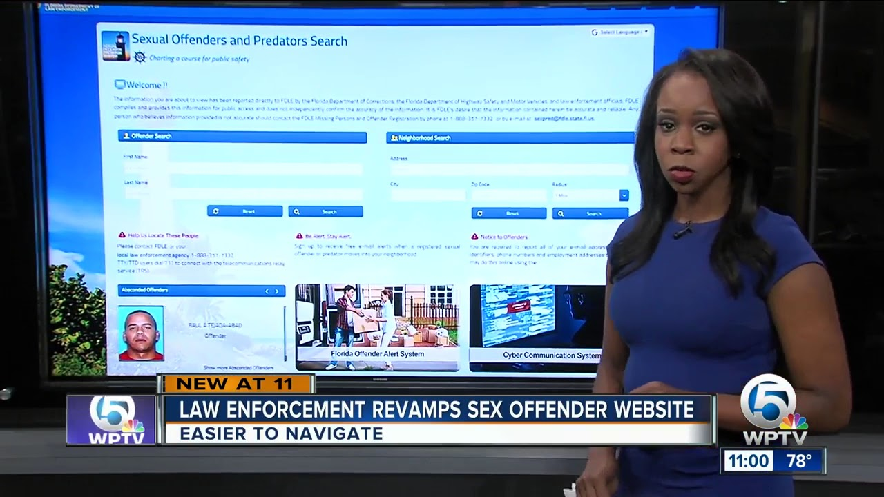 Website to track sex offenders