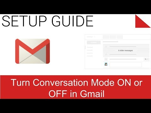 View New Email And Turn Conversation Mode On Or Off With Gmail (Classic)