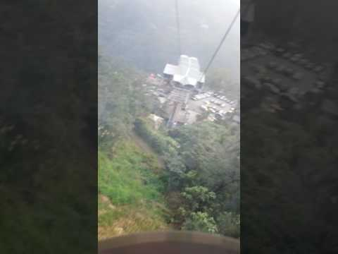 Exciting cable car ride in taipei