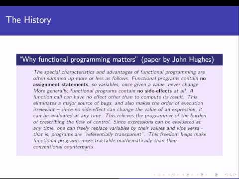 Programming Languages: The functional paradigm - 1