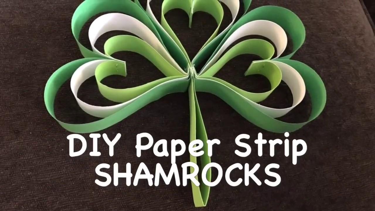 Diy Paper Shamrocks Youtube