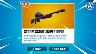 """NEW """"Storm Scout Sniper Rifle"""" Gameplay!// Use Code: byArteer (Fortnite Battle Royale LIVE UPDATE)"""