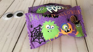 Halloween Fruit Snack Wrapper with Goggly Eyes | Make it with Cricut | Tam's Sweet Life