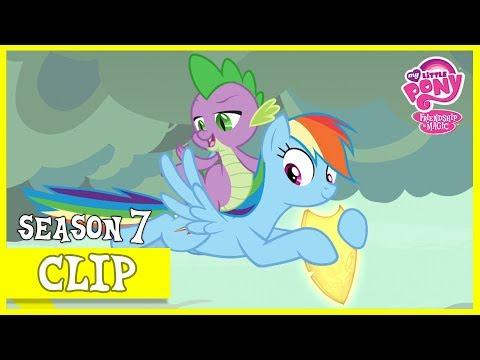 "MLP: FiM – Rainbow Dash and Spike Retrieve Flash Magnus' Shield ""Shadow Play"" [HD]"