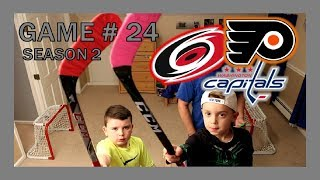 KNEE HOCKEY GAME # 24 - HURRICANES / CAPITALS / FLYERS - SEASON 2 - QUINNBOYSTV