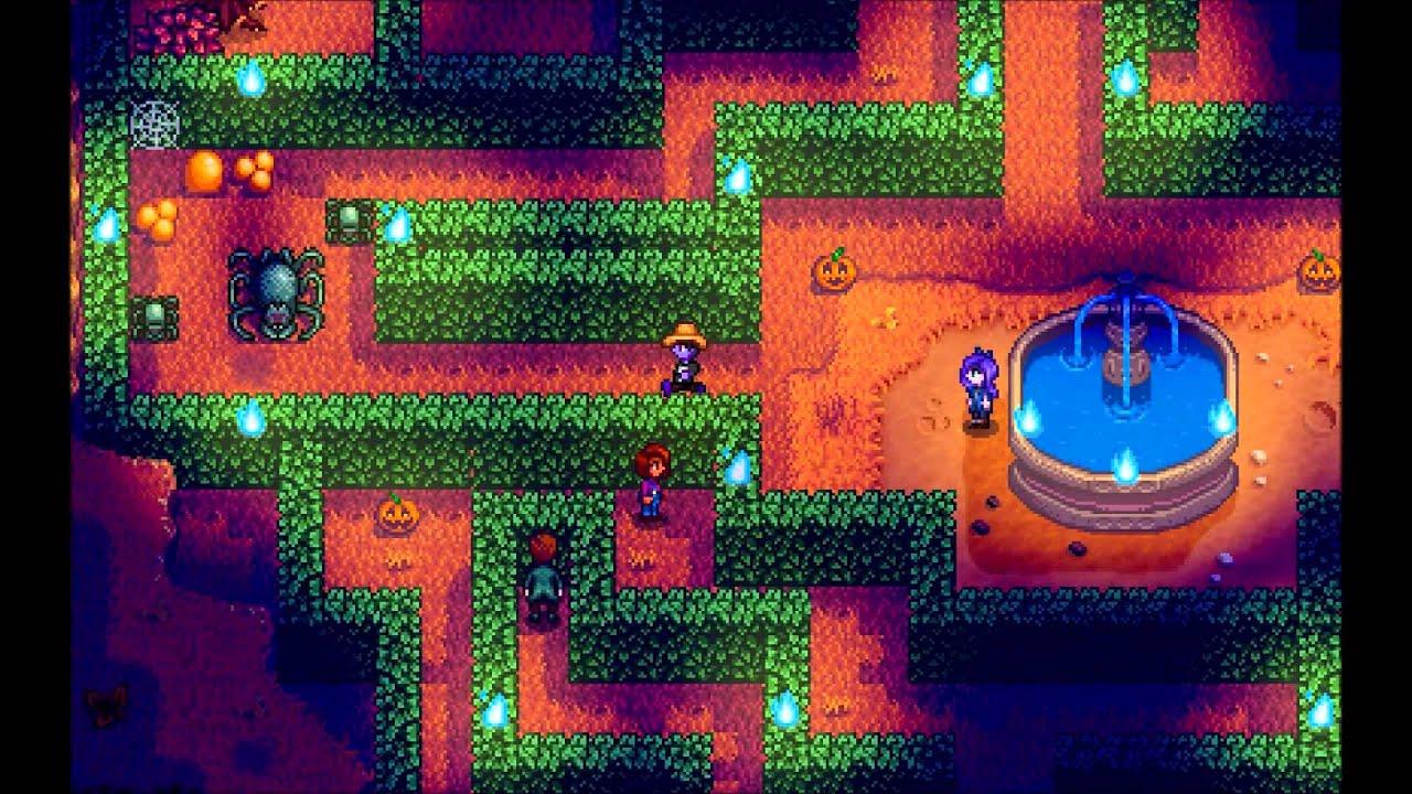 Spirit's Eve Pumpkin Maze Solution - Stardew valley - YouTube