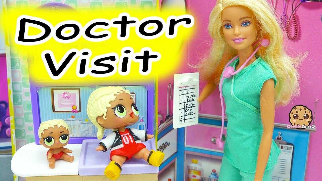 lol surprise doll not feeling good barbie doctor visit lil rh youtube com