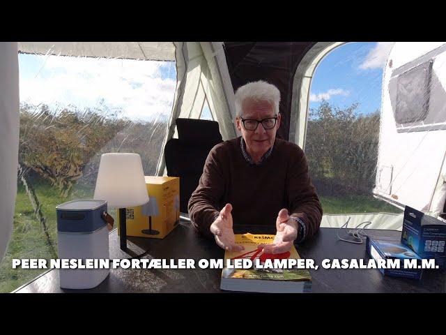Led lamper, gasalarm, vandtæt bluetooth højttaler og powerbank fra JPCaravanshop.dk (reklame)