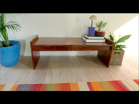 DIY Wooden Chevron Bench | Eye on Design