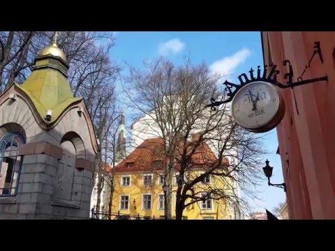 Tourist brushstrotes of Tallinn (Estonia)