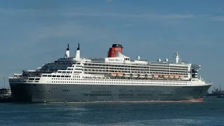 """Oriana"", ""Queen Mary 2"" & ""Seven Seas Voyager"" depart from Southampton - 02/09/2013"