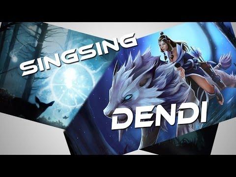 Dendi Mirana & SingSing Wisp Dota 2 Gameplay