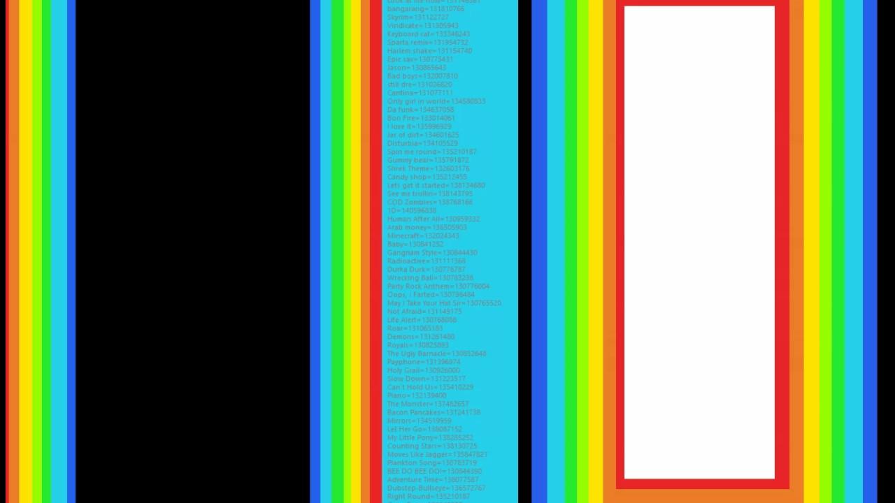 !!!Roblox Music IDs------2016/2017------Codes In Desc