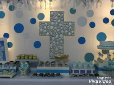 Ideas de mesas de dulces para bautizo youtube for Ideas para decorar mesa de dulces