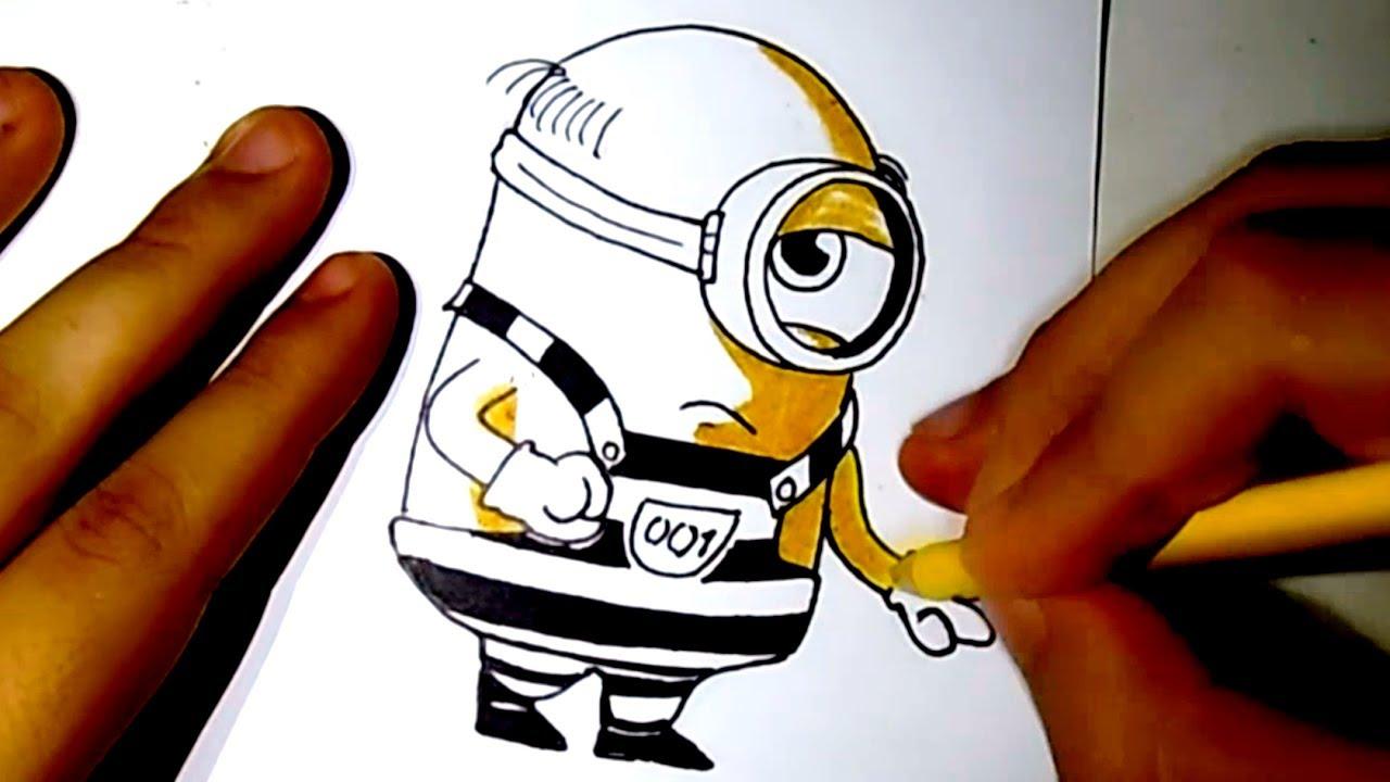 Minion prisionero (Mi villano favorito 3) Speed drawing | Un ...
