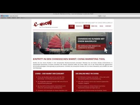 E- Woow : Online Marketing promotion in China