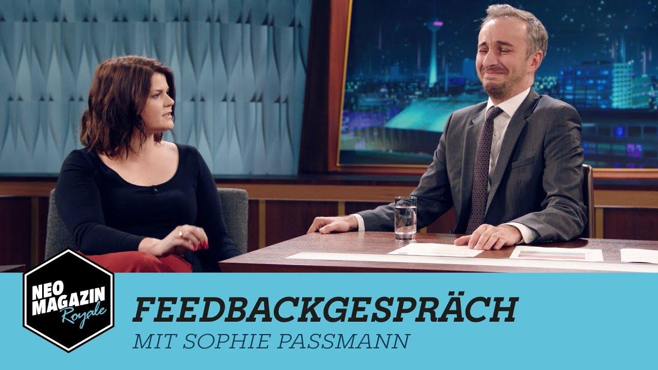 Feedbackgespräch mit Sophie Passmann | NEO MAGAZIN ROYALE mit Jan Böhmermann - ZDFneo
