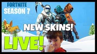 FORTNITE SEASON 7 GAMEPLAY WITH TYRIN - NEW SKINS, SECRET RIFT, ICE KING SKIN, EARN FREE V-BUCKS!