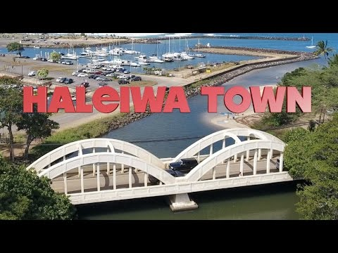 Haleiwa Town LIVE from the Drone - North Shore, Oahu