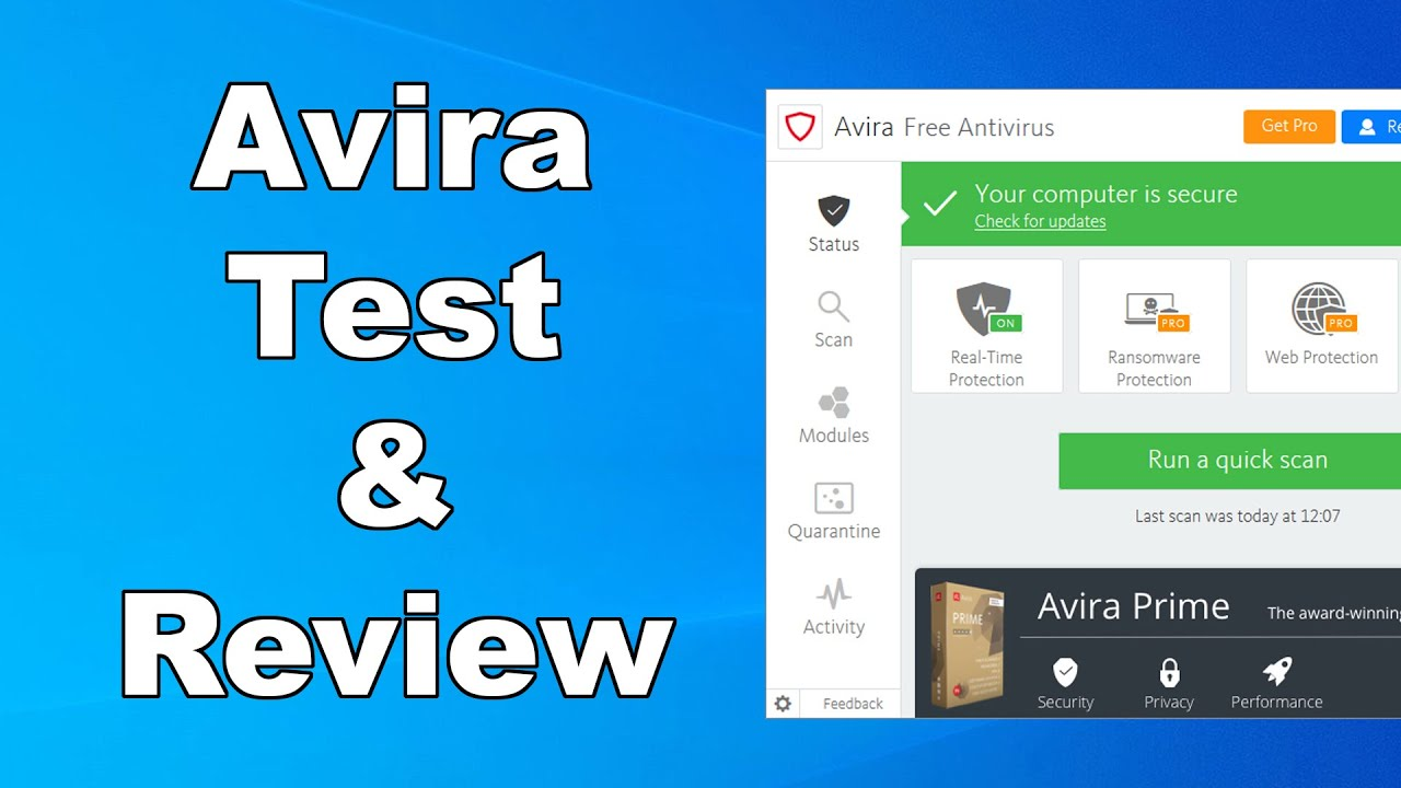 Avira Free Antivirus Test & Review 2020 - Antivirus Security Review - High Level Test