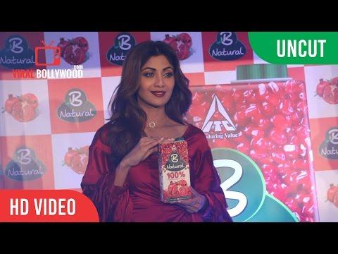 Uncut - Delightfully Natural New Fruit Juice Launch | Shilpa Shetty | Viralbollywood
