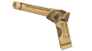 Dollar Pistol Money Origami