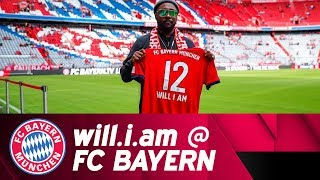 will.i.am from the Black Eyed Peas at FC Bayern