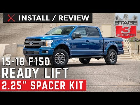 "2015-2018 Ford F150 ReadyLift 2.25"" Front Strut Extension Leveling Kit Install and Review"