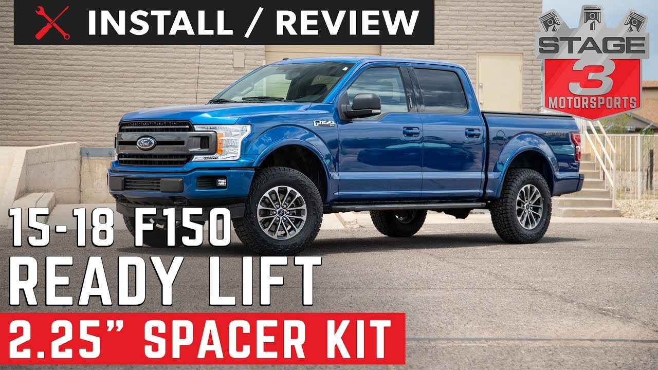 Ford F  Front Strut Extension Leveling Kit Install And Review
