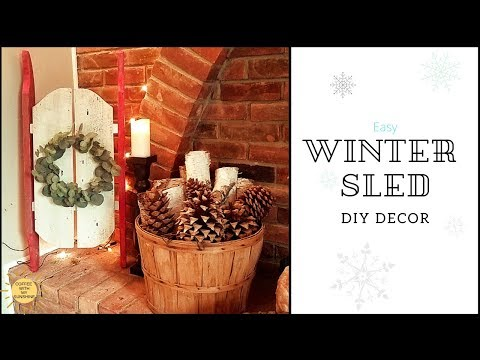 WINTER SLED DIY | WOOD |FRONT PORCH WINTER DECOR IDEAS | GIRLS CAN USE POWER TOOLS