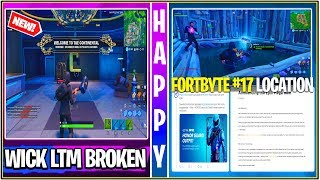 *NEW* Fortnite Update! John Wick LTM Easter Eggs! Fortbyte #17, MEGA SALE, & Honor Skin CODES!