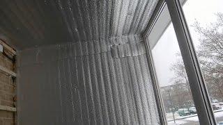 Утепляем балкон панелями МДФ ч 4