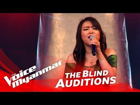 """နန္းဇာျခည္လင္း (Nan Zar Chi Lynn): """"အထီးက်န္သူ"""" - Blind Audition - The Voice Myanmar 2018"""