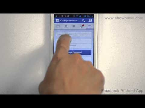 Facebook Android App - How To Change Password
