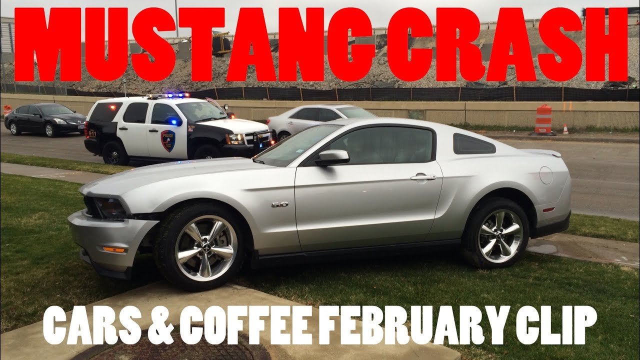 mustang crash at cars coffee february youtube