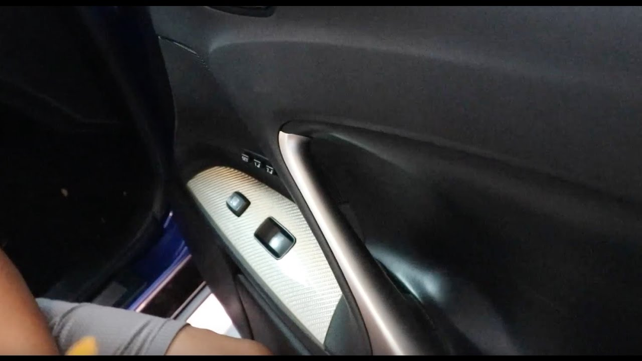 Diy Removing Front And Rear Door Panels On Lexus Isf