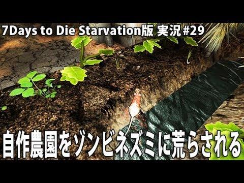 自作農園をゾンビネズミに荒らされる【 7Days to Die Starvation版 実況 #29 】