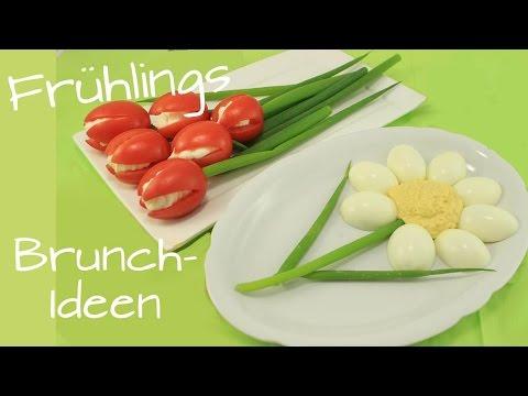 Frühlings-Brunch | Muttertags-Frühstück | Tomaten-Tulpen & Eier-Dip