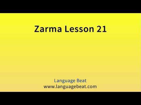 Learn Zarma   :  Lesson  21  -  Zarma  Phrases for Beginners