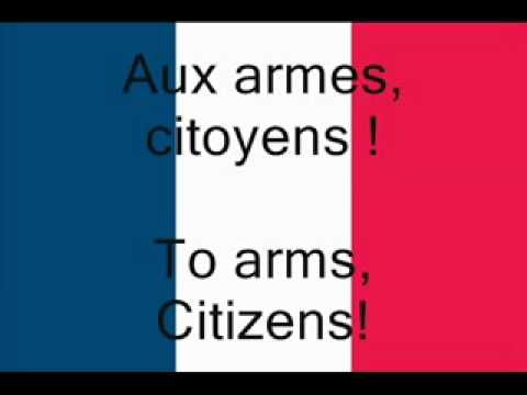 National Anthem of France (La Marseillaise, The Song of Marseille) (English subtitles)