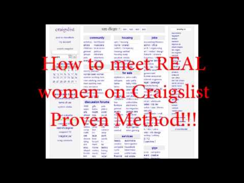 How to meet real women on craigslist