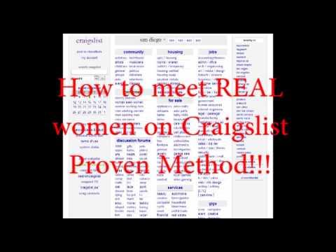 how to meet women on craigslist