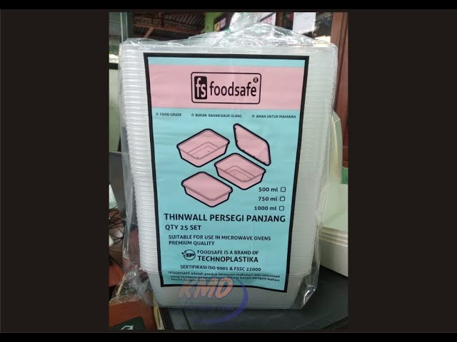 Jual thinwall kotak makanan plastik dan mangkok plastik bertutup aman untuk digunakan di microwave