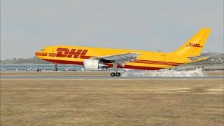 FSX Approach and landing in Marseille Provence Airport (LFML), Airbus A300B4-200F
