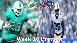 NFL Week 16 2016 Miami Dolphins vs Buffalo Bills Preview