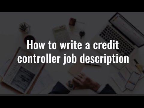 How to write a credit controller job description - Accountancy Recruit