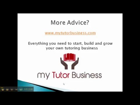 How To Start A Tutoring Business - 10 Tips - YouTube