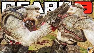 GEARS OF WAR 3 Horde Mode - LOCUST DRONE vs LOCUST HORDE Gameplay!